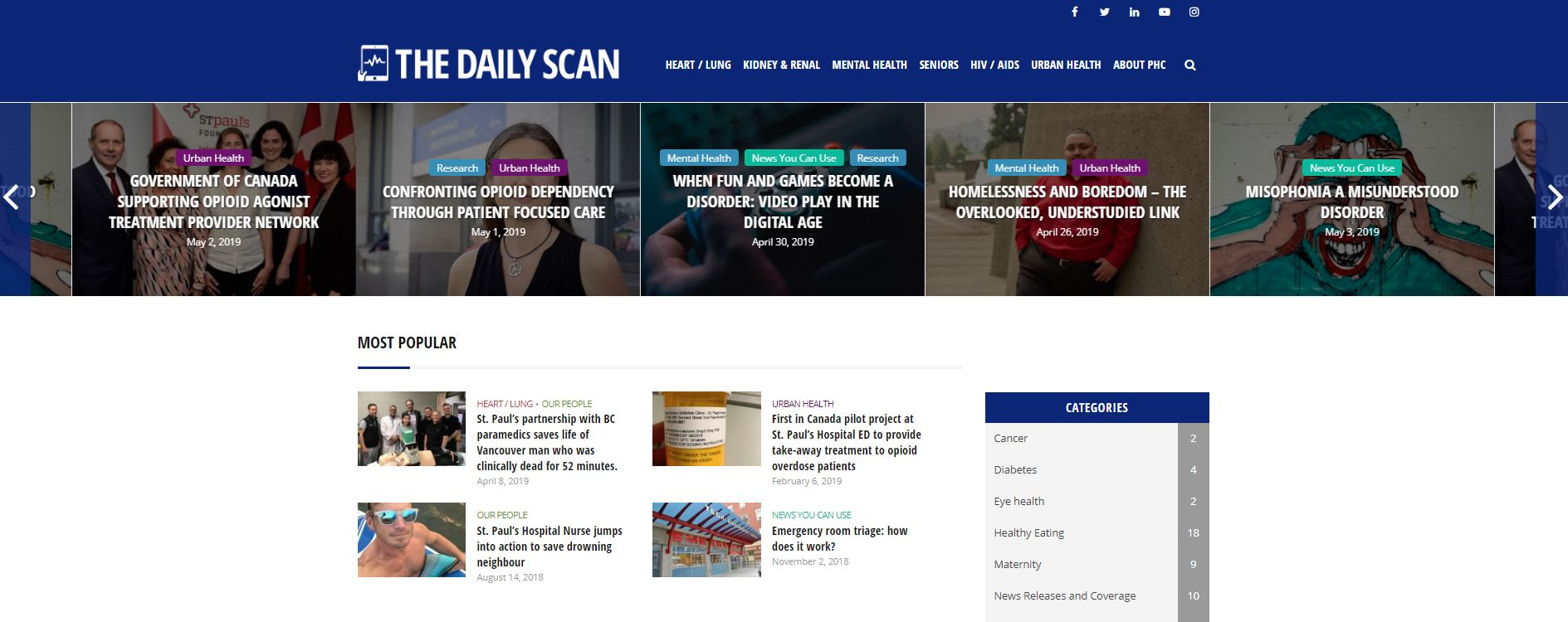 Visit The Daily Scan for your daily health news   Providence