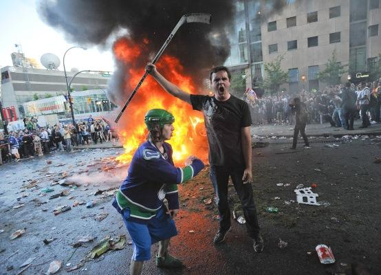 "Medical staff worked with ""military-like precision"" during the Vancouver hockey riot."