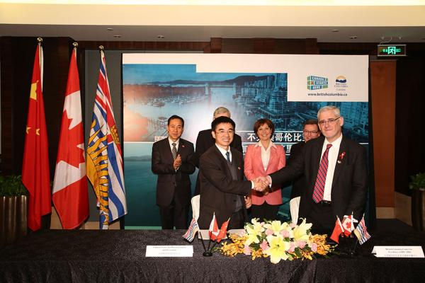 Government of B.C. signs memorandum of understanding between China and the BC Centre for Excellence in HIV/AIDS to St. Paul's Hospital to support Treatment as Prevention expansion