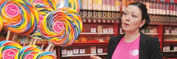 Candy Aisle owner Shelley McCann talks about sugar and sweets at her shop in Vancouver on Monday. Photograph by Wayne Leidenfrost/PNG