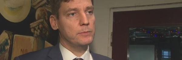 B.C.'s Attorney General, David Eby, marked World AIDS Day in Vancouver on Dec. 1, 2017 at the Carnegie Community Centre. (Martin Diotte/CBC)